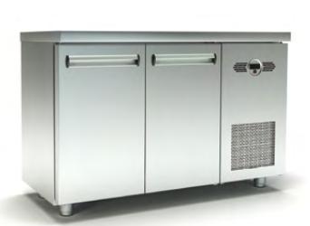Ψυγείο Πάγκος Συντήρηση Με 2 Πόρτες Με Μηχανή 135x60x87cm / 00525 | Geniko Emporio - Επαγγελματικός Εξοπλισμός Εστίασης - Καταστημάτων και Ξενοδοχείων