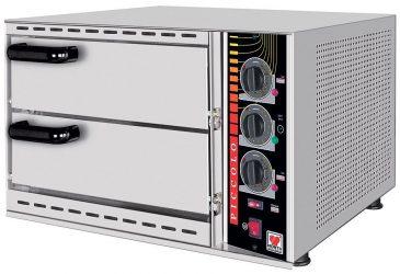 Φούρνος Πίτσας Διπλός (Piccolo Μοντέλα - 35X35cm) SPM-48 / 03856 Geniko Emporio Επαγγελματικός Εξοπλισμός Επιχειρήσεων Εστίασης και Ξενοδοχείων