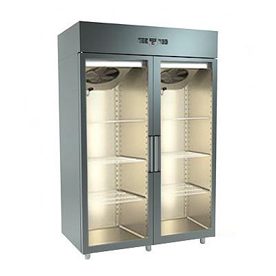 Ψυγείο Θάλαμος Κατάψυξη Διπλό Με δύο γυάλινες πόρτες - Geniko Emporio Επαγγελματικός Εξοπλισμός Εστίασης και Ξενδοχείων