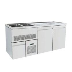Ψυγείο Πάγκος Συντήρηση για Μπύρα με Μοτέρ 195 x 70 x 96cm Γούρνες Αριστερά Geniko Emporio Επαγγελματικός Εξοπλισμός Επιχειρήσεων Εστίασης και Ξενοδοχείων
